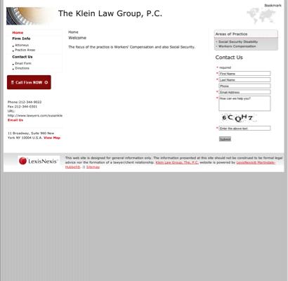 Klein Susan & Associates - Social Security Attorneys in New York