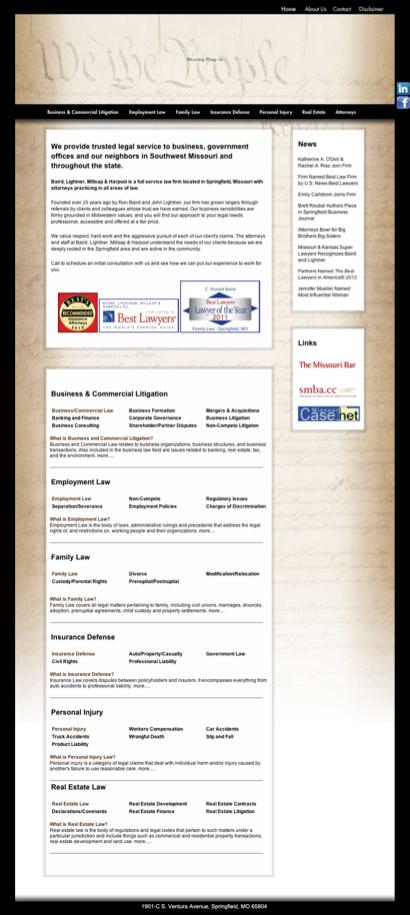 Baird, C Ronald - Baird Lightner Millsap Harpool - Lawyers