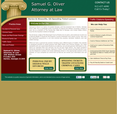 Oliver, Samuel Attorney - Samuel G Oliver, Attorney at Law